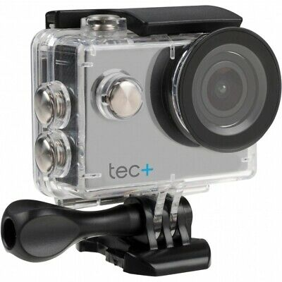 Tec+ HD 720P Waterproof Action Camera with Screen and Accessories Silver