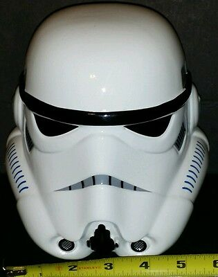 STAR WARS STORMTROOPER Helmet Mask Cowl White Decorative Coin Bank Ceramic New