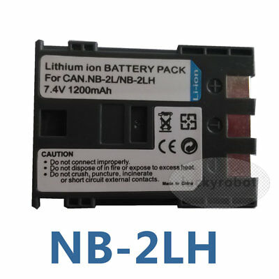 2pack NB-2LH Battery for Canon 400D Rebel XT Xti iVIS DC300 MD101 MD111