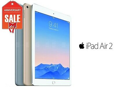 Apple iPad Air 2 16GB WiFi Retina Display 9.7 Touch ID GOLD GRAY SILVER (R-D)
