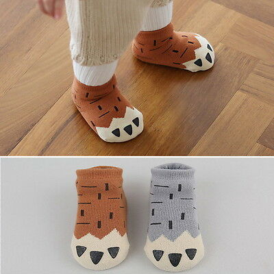 Paws Baby Socks Newborn Girl Boy Cotton Warm And Thick Funny Socks 0-4 Years Old