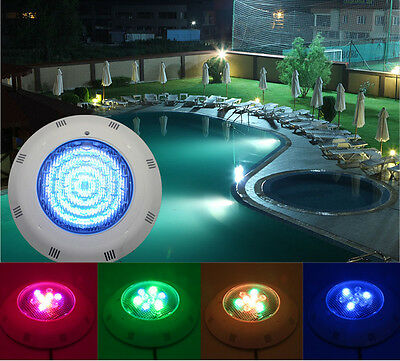 Rgb 9W Led Underwater Swimming Pool Light Fountains Lamp Remote Control New