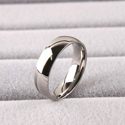wholesale lots 50pcs silver 6mm quality stainless steel polished wedding rings