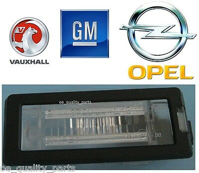New GM Opel Vauxhall Vectra C Estate Rear License Registration Plate Lamp Light