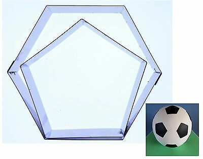 """Football Cake (Hexagon/Pentagon) Cutters to fit 6"""",8 inch, 9,12,13,16,20cm ball"""