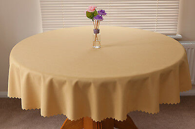 """High Quality Linen Look Tablecloth 100%Polyester  """"GOLD""""  Available 11 sizes."""
