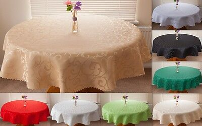 "High Quality Tablecloth ""LUX"" Round,Rectangle,Oval available 10 siz.& 13 col."