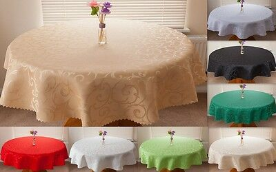 """High Quality Tablecloth """"LUX"""" Round,Rectangle,Oval available 8 siz.& 13 colours."""