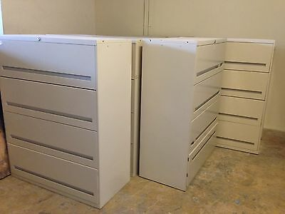 FILE CABINETS / 4 DRAWER LATERAL STYLE (keys and local delivery available)