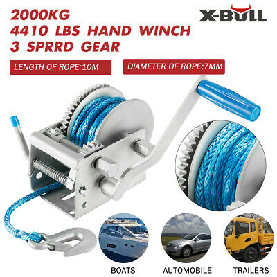 1200LBS Cable Hand Winch/Manual Steel Rope Winch/Boat Trailer Car Mount