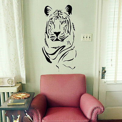 Tiger Animal Print Wall Art Stickers Decals Vinyl Decor Home Kids Room Mural DIY