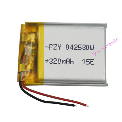 3.7V 320 mAh Polymer Li battery LiPo For sat Nav bluetooth headset GPS 042530