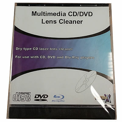 Nuovo Link Multimediale Cd / Dvd / Lettore Blu-Ray Pulitore Lente Laser Dischi