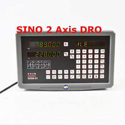 Digital Readout 2 Axis Dro Kit For Mill Milling Machine With Linear Scales Sino