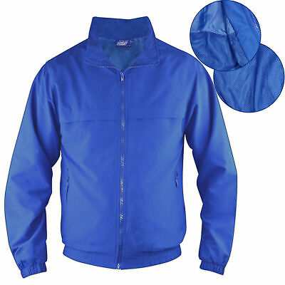 Childrens Boys Microfibre Small Blue Jacket Outdoor Gym Summer Sports Coat Light