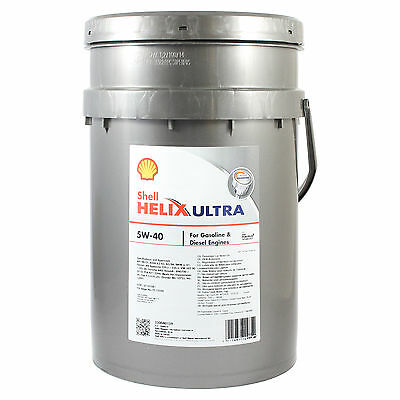 Shell Helix Ultra 5W-40 Fully Synthetic Engine Oil - 20 Litres 20L