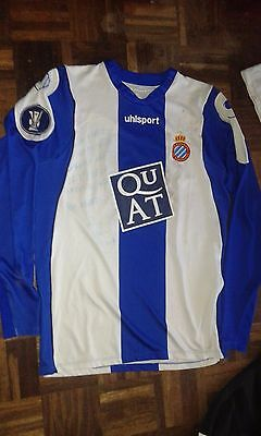 Match Worn Europa League Ito Rcd Espanyol Camiseta Futbol Football Shirt
