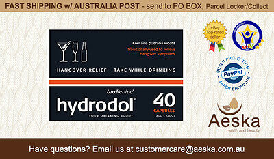Hydrodol -  Hangover Relief 40 Capsules