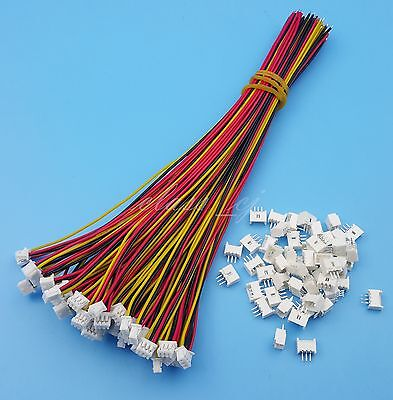 50Sets 3 Pin SH 1.25mm Single End 15cm 28AWG Wire To Board Connector