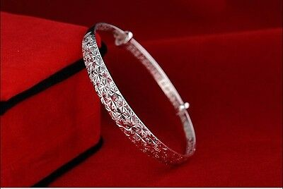 925 STERLING SILVER Tapered Style Bangle Bracelet Ladies Women's Quality Gift
