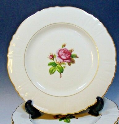 "Syracuse China Rosalie Dinner Plates Federal Shape (Pre owned) - 10""D (# 5165)"