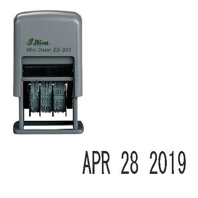 Shiny ES-300 Rubber Date Stamp - Self-Inking - Black Ink (Date Only)