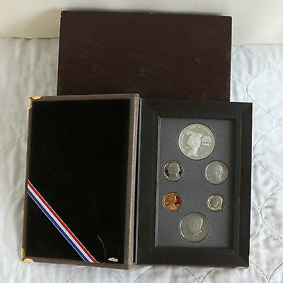 USA 1983 PRESTIGE 6 COIN PROOF YEAR SET WITH OLYMPICS SILVER DOLLAR - cased