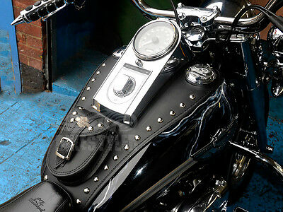 R) HARLEY DAVIDSON SOFTAIL HERITAGE DELUXE LEATHER TANK Pad Panel Chap Bib Cover