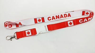 Canada Flag Reversible Lanyard/keychain, New, Fast Free Shipping