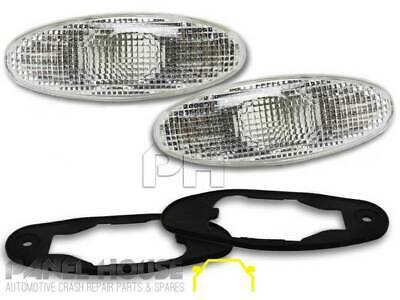 Holden Commodore VR VS Clear L+R PAIR Oval REPLACEMENT Side Flasher Indicator
