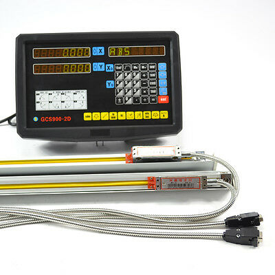 2Axis Digital Readout Display Dro + 2 Linear Scale Kit  For Mill Lathe Machine