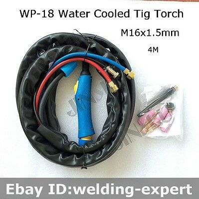 4M  M16 x 1.5 Water Cooled TIG-18 WP-18 WP 18 Series TIG Welding Torch Complete