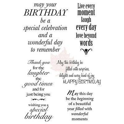 Woodware Clear Stamps 10cm x 15cm Sheet-Delightful Verse. Delivery is Free