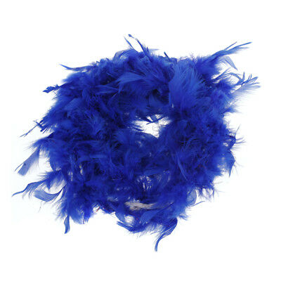 Royal Blue Feather Boa Fluffy Craft Costume Dressup Wedding Party 6.6Ft Long