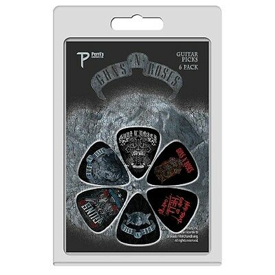 Guns N' Roses 6er Plektrum Set - Gone To Hell Plektren