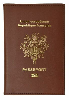 FRANCE Travel Leather Passport Organizer Holder Card Case Protector Cover Wallet