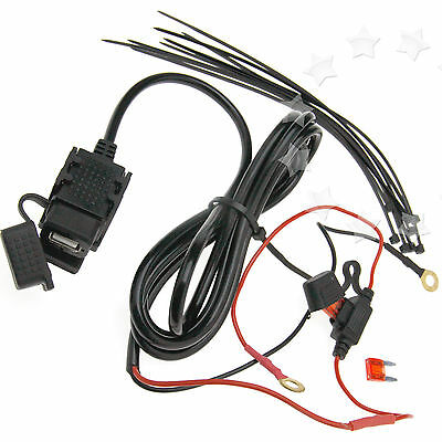 New 12V/24V USB Power Supply Port Motorbike Motorcycle Mobile Charger Socket