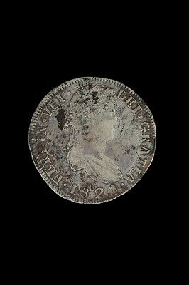War For Independence 8 Reales 1821 Zs RG VF KM111.5 31408