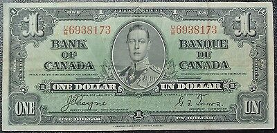 BANK OF CANADA - 1937 $1 BANK NOTE - Prefix U/M - Coyne & Towers