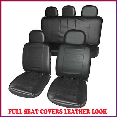 Vauxhall Corsa Sxi (03-06) Full Set Leather Look Front + Rear Seat Covers