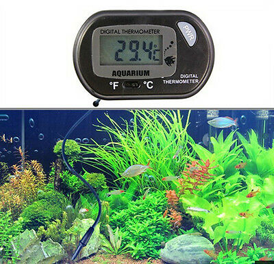 New Digital LCD Fish Tank Aquarium Marine Water Thermometer Temperature Black DR