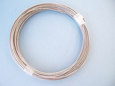 """Type 316 Stainless Steel Wire Rope Cable Strand, 1/8"""", 1x19, 50 ft"""