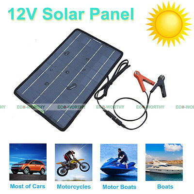 5W 10W 20W 100W Portable Solar Panel Battery Charger Backup for Car Moto 12Volt