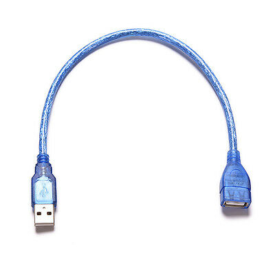 Practical Short USB 2.0 Type A Female To Male Extension Extender Cable Cord