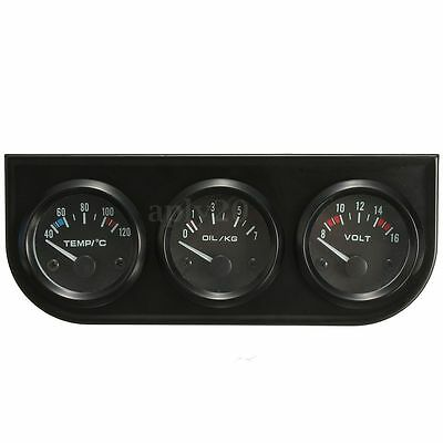 52mm 2'' Electronic Water Temp/Oil Pressure/Volt Gauge Kits With 3 Hole Bracket