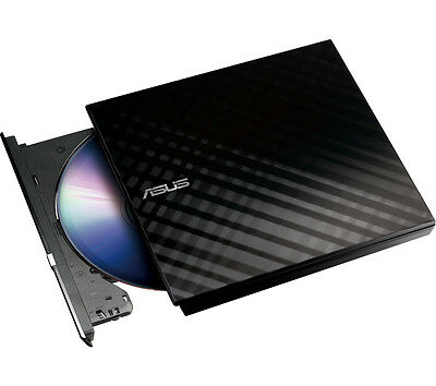 ASUS Portable External DVD Rewriter Black Drive - (USB/DVD±R: 8x/CD-R: 24x)