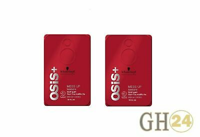 2x Schwarzkopf OSiS Mess Up texture Matt gum Paste 100ml