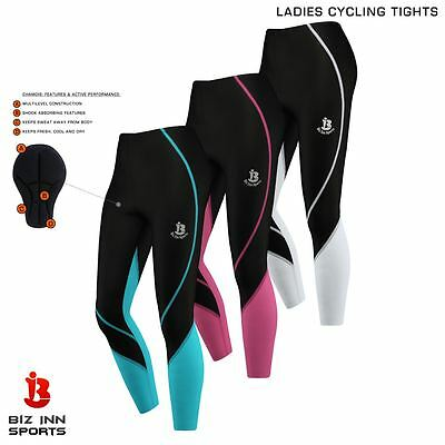 Ladies Cycling Tights Winter Thermal Legging Trouser Bicycle Padded Long Pant
