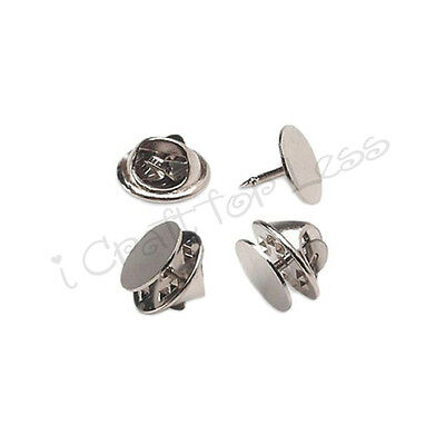 10 Tie Tacks Blank Pins with Clutch Back - Lapel / Scatter Pin