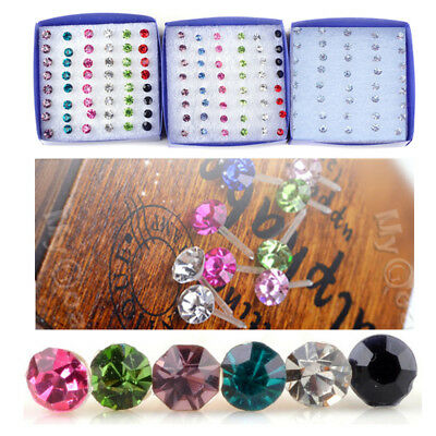 20Pairs Whole sale Bulks Lots Crystal Earring Stud 1Box Allergy Free Neddle Gift